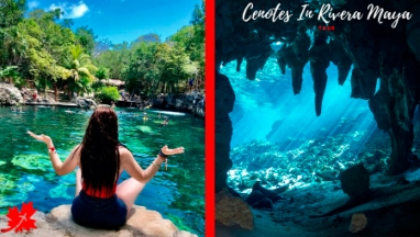 Nado en cenote en excursion privada