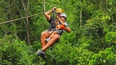 COMBO: ZIP LINES, ATV AND CENOTE
